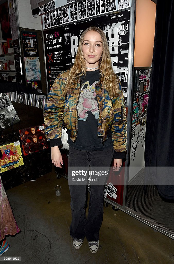 Agathe Chapman attends to celebrate the launch of McQ Swallow Capsule collection at Rough Trade East on May 5, 2016 in London, England.