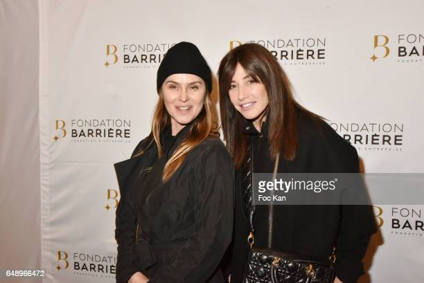 Agathe de La Fontaine and Albane Cleret attend 'Monsieur et Madame Adelman' Premiere at Elysee Biarritz on March 6 in Paris France