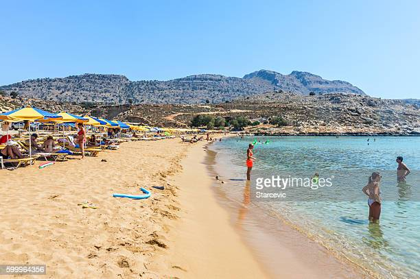 Agathi Beach in Rhodes, Greece