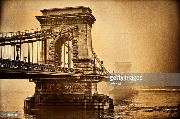Aged Chain bridge, Budapest