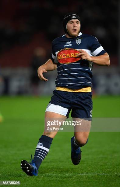 Agen player Clement Martinez in action during the European Rugby Challenge Cup match between Gloucester Rugby and Agen at Kingsholm on October 19...
