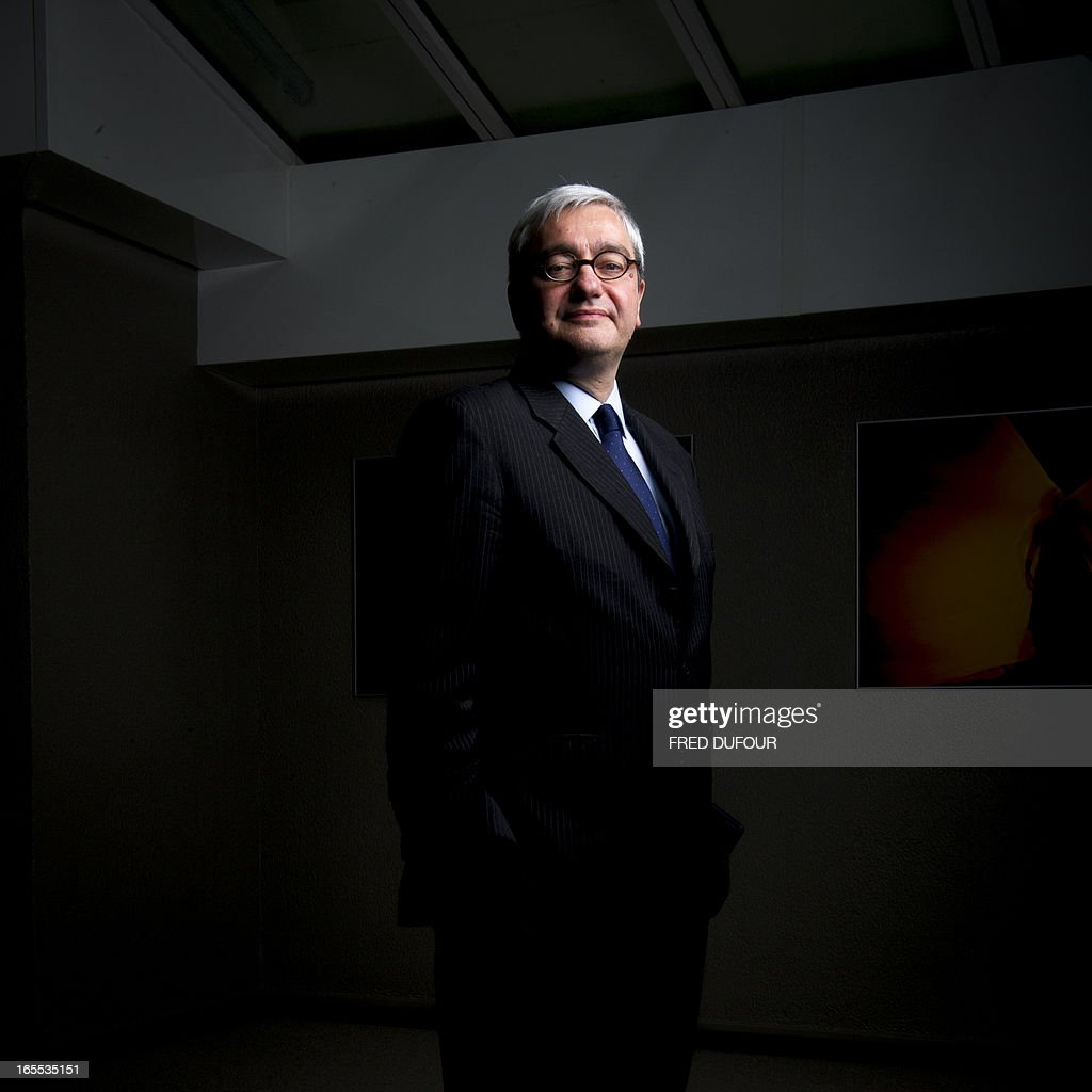 Agence France Presse (AFP) President Emmanuel Hoog poses in his office at the AFP headquarters, on April 04, 2013 in Paris. Hoog was reelected as AFP president on April 4, 2013.