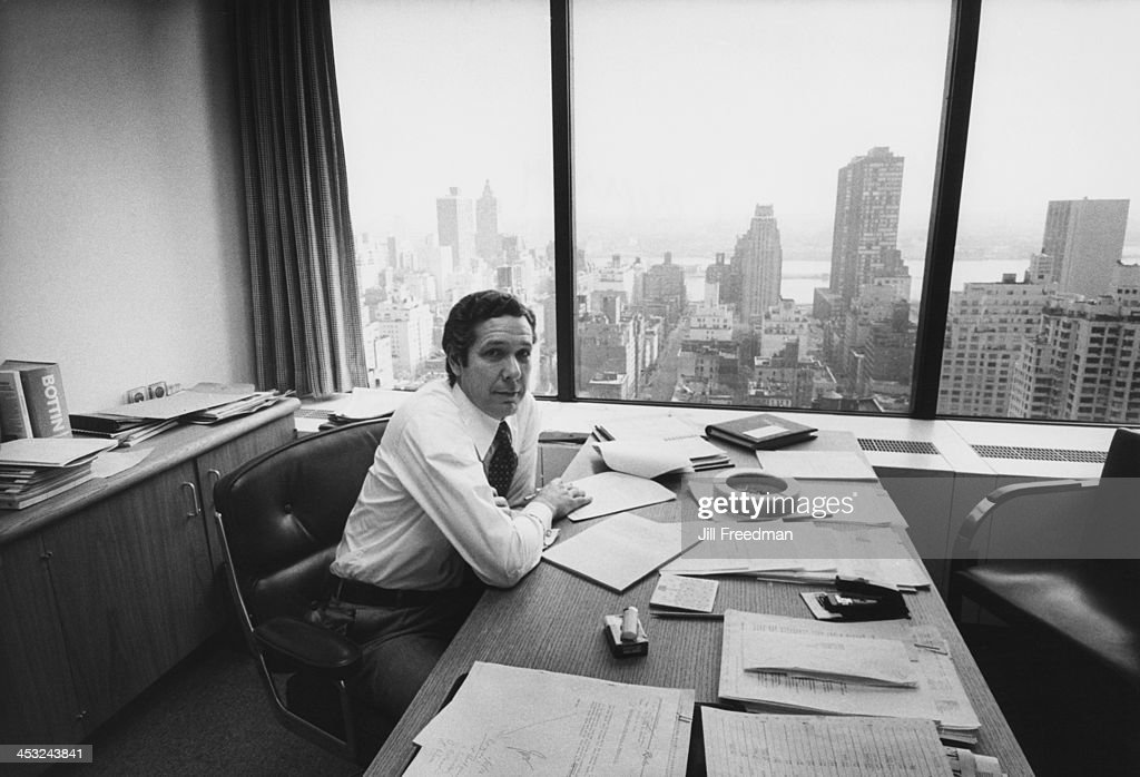Agency Director of Research Len Hultgren in his office at the 'Scali McCabe Sloves' advertising agency, Madison Avenue, New York City, 1976.