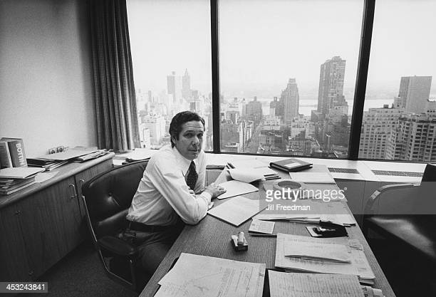 Agency Director of Research Len Hultgren in his office at the 'Scali McCabe Sloves' advertising agency Madison Avenue New York City 1976
