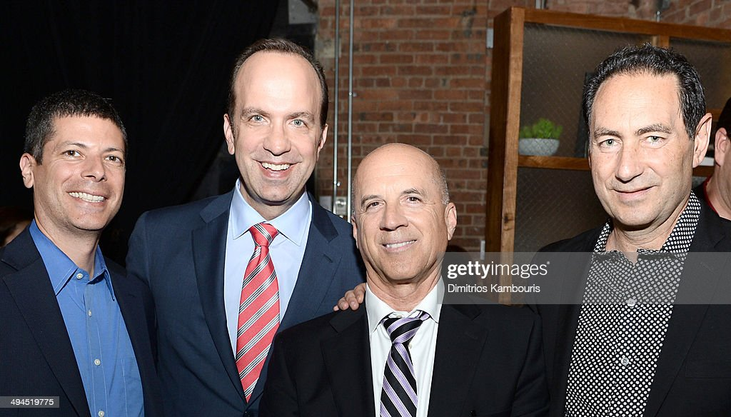 Agent Andy Elkin, ABC News President Ben Sherwood, CAA Partner Steve Lafferty, and CAA Agent Adam Berkowitz attend the 2014 CAA Upfronts party on May 12, 2014 in New York City.
