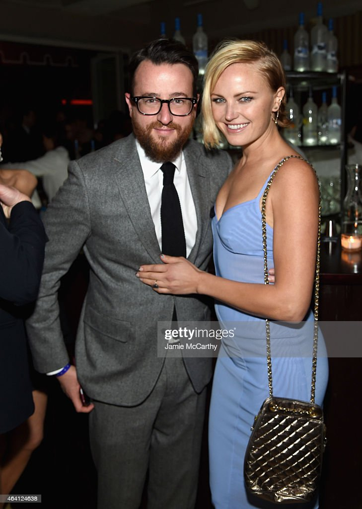 Agent Brent Morley and actress Malin Ackerman attend the Grey Goose hosted Michael Sugar Doug Wald and Warren Zavala preoscar party at Sunset Tower...