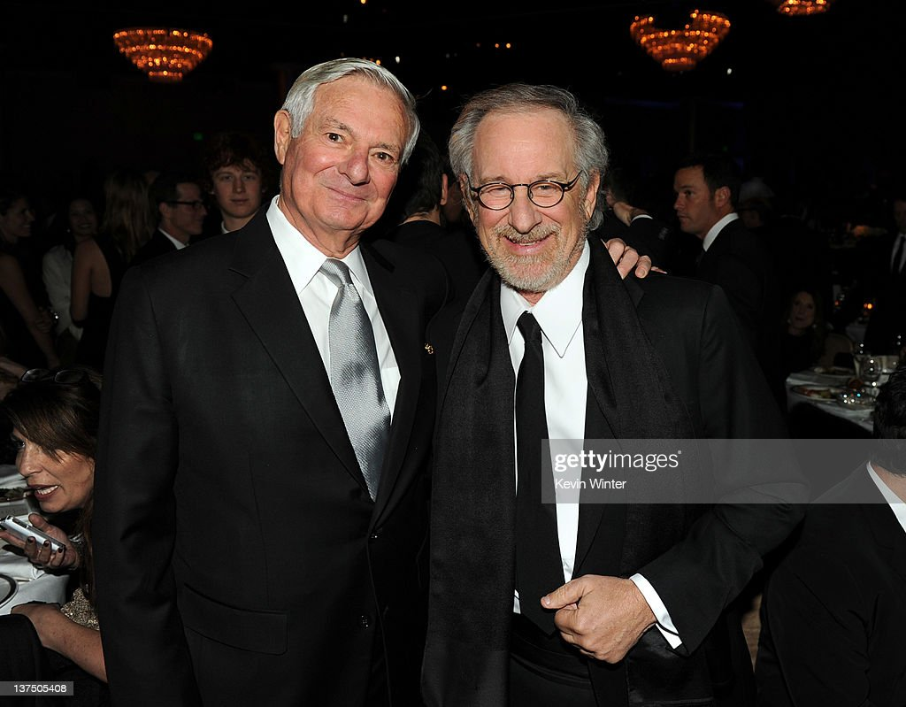 Agent Bruce Ramer (L) and producer/director Steven Spielberg attend the 23rd annual Producers Guild Awards at The Beverly Hilton hotel on January 21, 2012 in Beverly Hills, California.