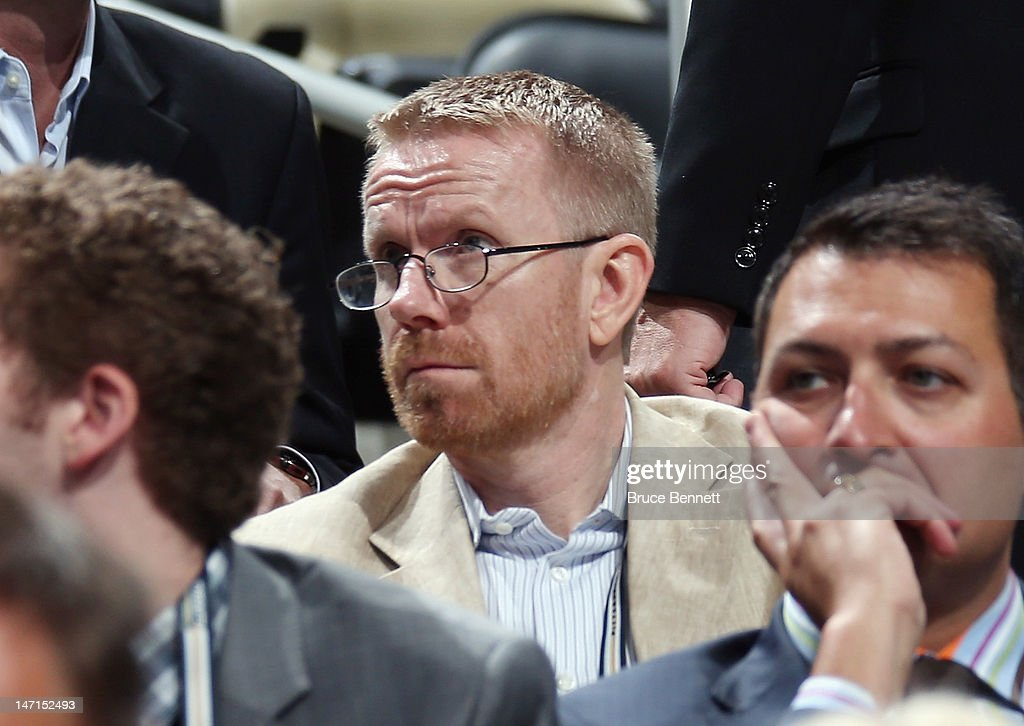 CAA agent Claes Elefalk watches the draft board during day two of the 2012 NHL Entry Draft at Consol Energy Center on June 23, 2012 in Pittsburgh, Pennsylvania.