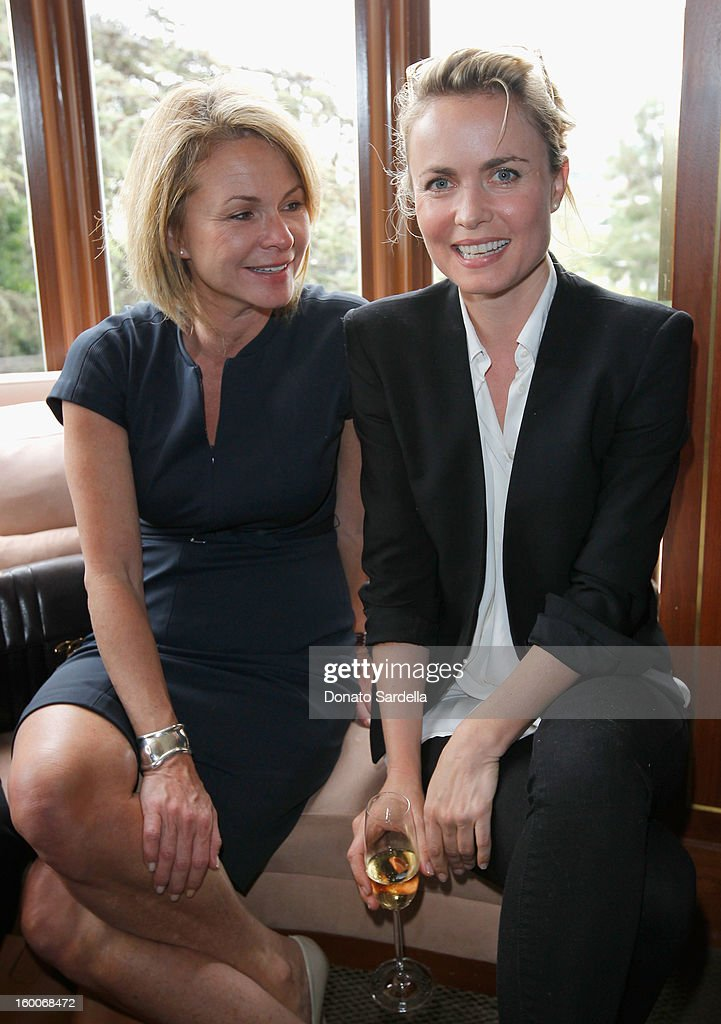 Agent Louise Ward and actress Radha Mitchell attend the Champagne Taittinger Women in Hollywood Lunch hosted by Vitalie Taittinger at Sunset Tower on January 25, 2013 in West Hollywood, California.