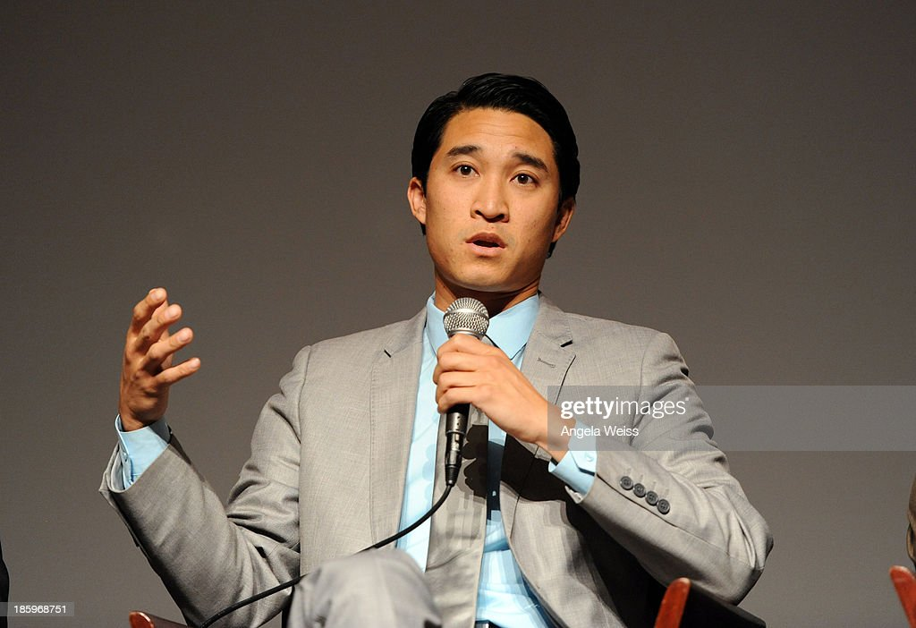 ICM agent Peter Trinh speaks onstage at the Film Independent Forum at the DGA Theater on October 26, 2013 in Los Angeles, California.