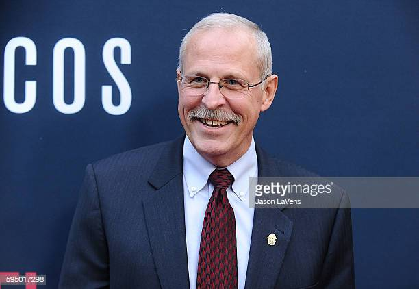 DEA agent Steve Murphy attends the season 2 premiere of 'Narcos' at ArcLight Cinemas on August 24 2016 in Hollywood California