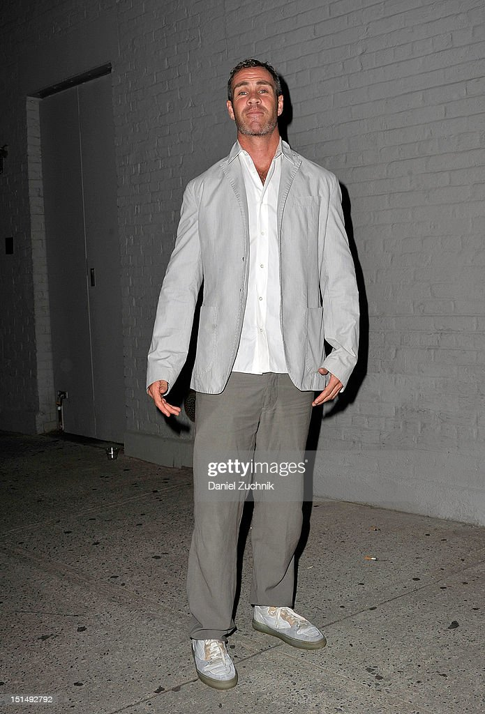 Agent Tim Howard seen outside the Billy Reid show wearing Rick Owens pants, Martin Margela shirt and Balenciaga shoes on September 7, 2012 in New York City.