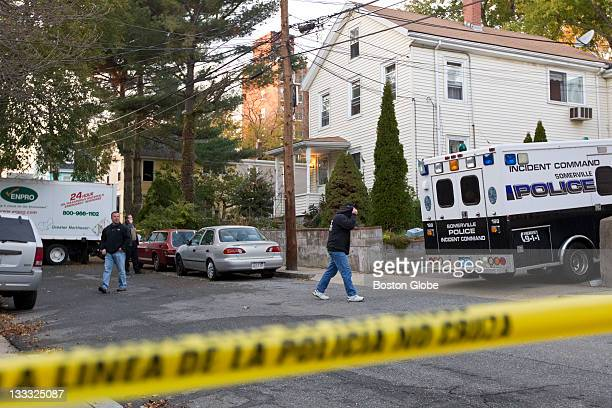 DEA agents and Somerville Police officers raid a meth lab at 19 Oxford Street on Monday Nov 7 2011