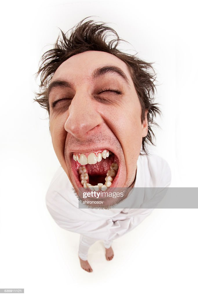 Homem agressivo : Foto de stock