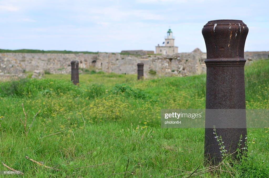 Agia mavra cannons : Stock Photo
