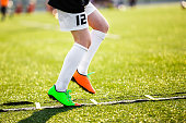 Agility Training For Soccer Players. Professional Soccer Player Individual Skill Training. Soccer Speed Ladder Drills.