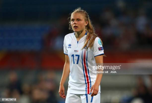 Agla Albertsdottir of Iceland Women during the UEFA Women's Euro 2017 match between France and Iceland at Koning Willem II Stadium on July 18 2017 in...
