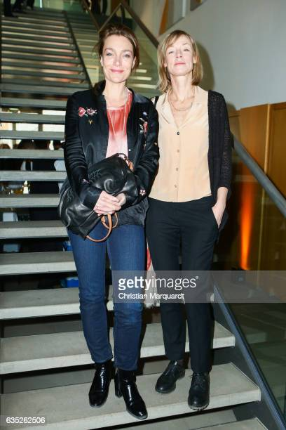 Aglaia Szyszkowitz and Jenny Schily attends the Hessian Reception during the 67th Berlinale International Film Festival Berlin at on February 14 2017...