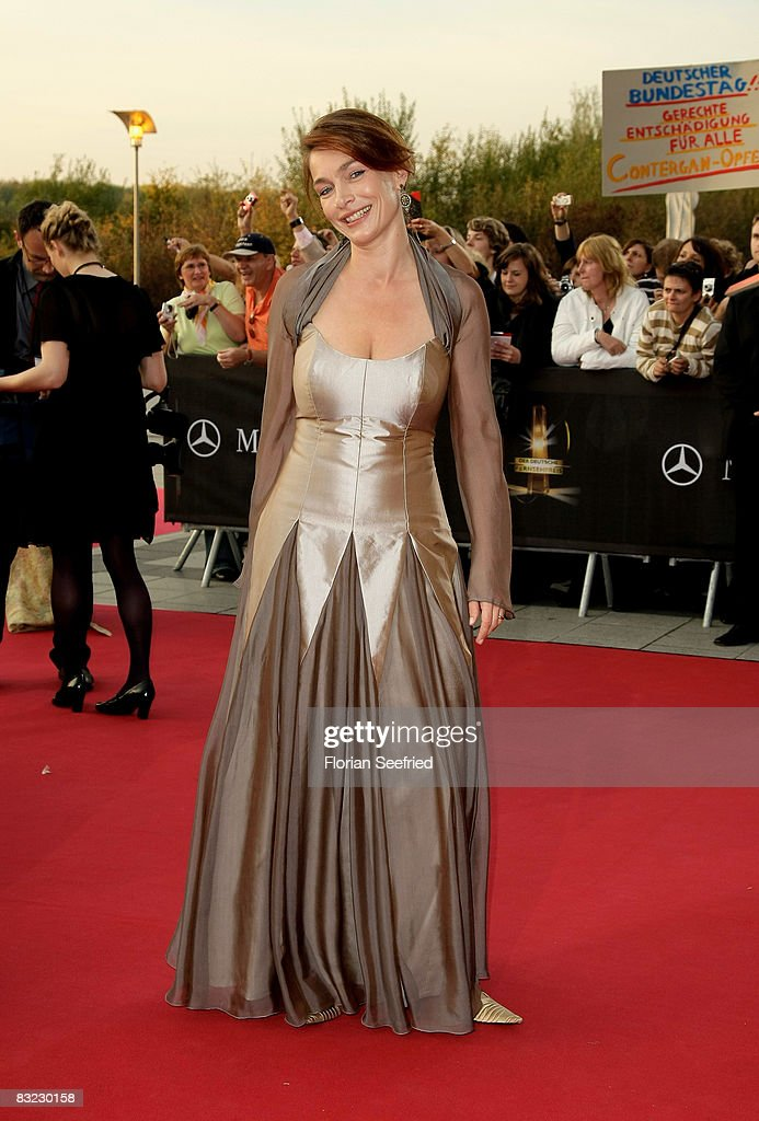 Aglaia Szyszkowitz arrives for the German TV Award 2008 at the Coloneum on October 11, 2008 in Cologne, Germany.