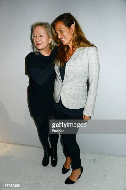 Agnes B and Jade Jagger attend the Agnes B show as part of the Paris Fashion Week Womenswear Fall/Winter 20142015 at Palais de Tokyo on March 4 2014...