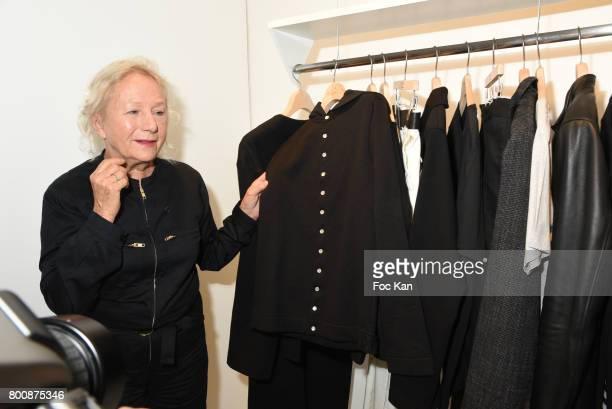 Agnes B attends Agnes B Menswear Spring/Summer 2018 show as part of Paris Fashion Week ton June 25 2017 in Paris France