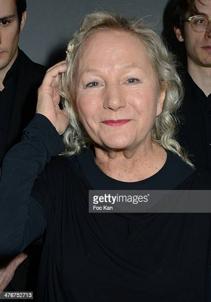 Agnes B attends the Agnes B show as part of the Paris Fashion Week Womenswear Fall/Winter 20142015 at Palais de Tokyo on March 4 2014 in Paris France