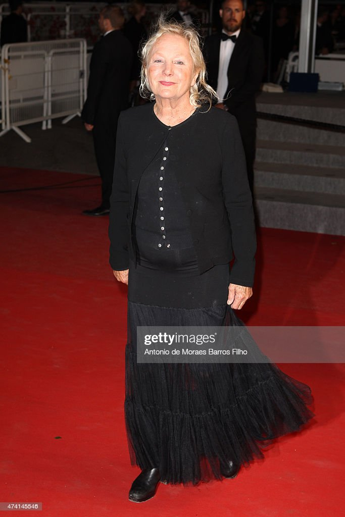 Agnes B. attends the 'Shan He Gu Ren' ('Mountains May Depart') premiere during the 68th annual Cannes Film Festival on May 20, 2015 in Cannes, France.