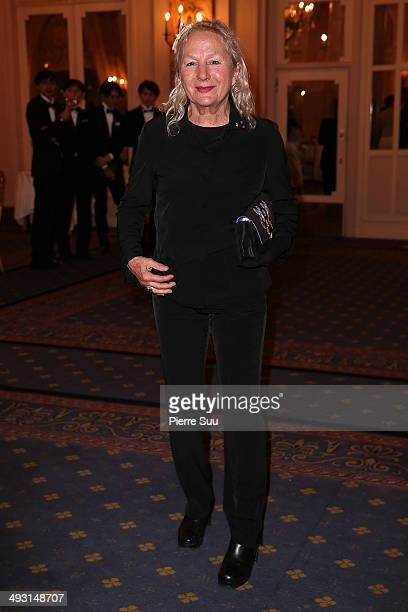 Agnes B attends the'Cine Fondation' Dinner at the 67th Annual Cannes Film Festival on May 22 2014 in Cannes France