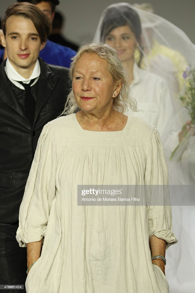 Agnes B walks the runway during the Agnes B Menswear Spring/Summer 2016 show as part of Paris Fashion Week on June 28, 2015 in Paris, France.