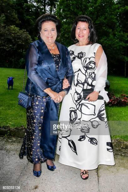 Agnes Buchbinder and Charlotte Rothensteiner during the International Salzburg Association Gala on July 26 2017 in Salzburg Austria