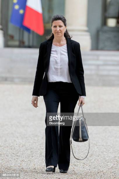 Agnes Buzyn France's minister for health departs following a cabinet meeting at the Elysee Palace in Paris France on Thursday May 18 2017 President...
