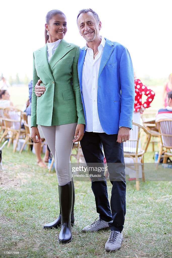 Agnes Gerry and Sergio Raffo attend the X Polo Fashion Day as part of AltaRoma AltaModa Fashion Week Autumn/Winter 2013 on July 6, 2013 in Rome, Italy.