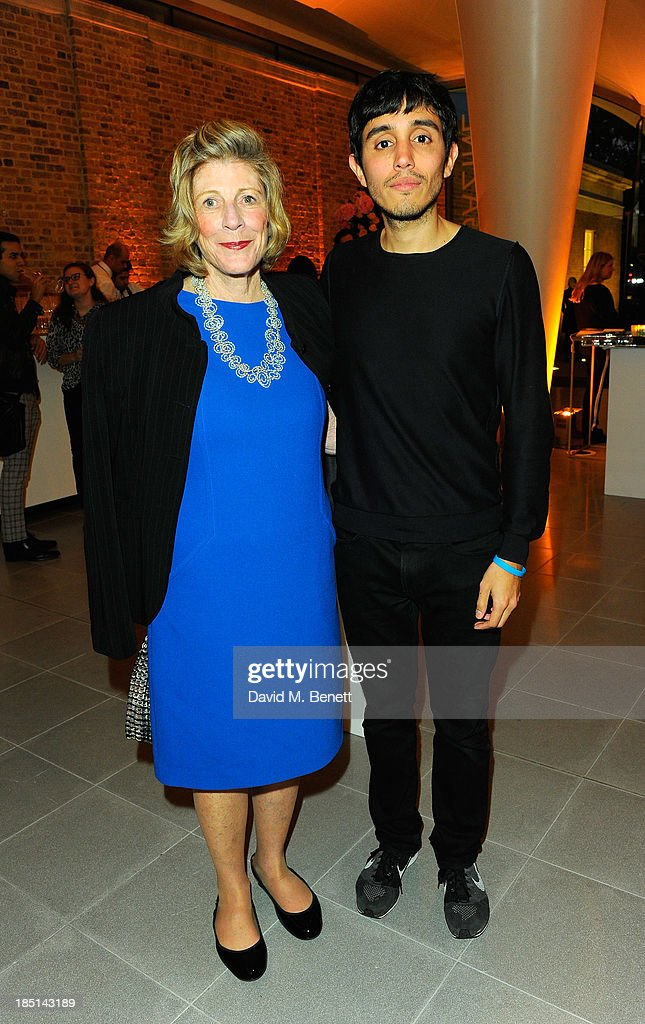 Agnes Gund and Adrian Villar Rojas attend a cocktail party to Celebrate the Launch of the Book 'Chloe Attitudes' hosted by Sarah Mower and Marc Ascoli at Freer and Sackler Gallery on October 17, 2013 in London, England.