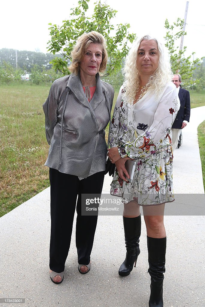 Agnes Gund and Andrea Rosen attend the Parrish Art Museum 2013 Midsummer Party on July 13, 2013 in Southampton, United States.