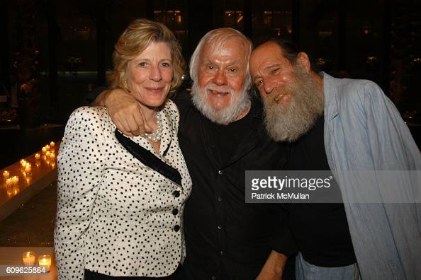 Agnes Gund John Baldessari and Lawrence Weiner attend MARIAN GOODMAN GALLERY Thirtieth Anniversary Dinner at Four Seasons Restaurant on September 10...