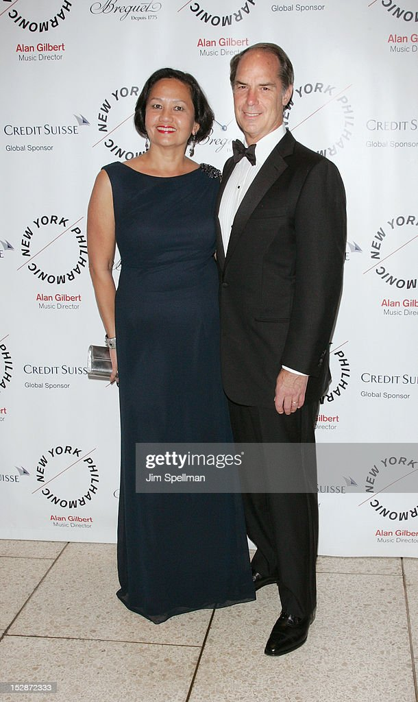 Agnes Hassell and Gerald Hassell attend the New York Philharmonic 171st Season Opening Night Gala at Avery Fisher Hall at Lincoln Center for the Performing Arts on September 27, 2012 in New York City.