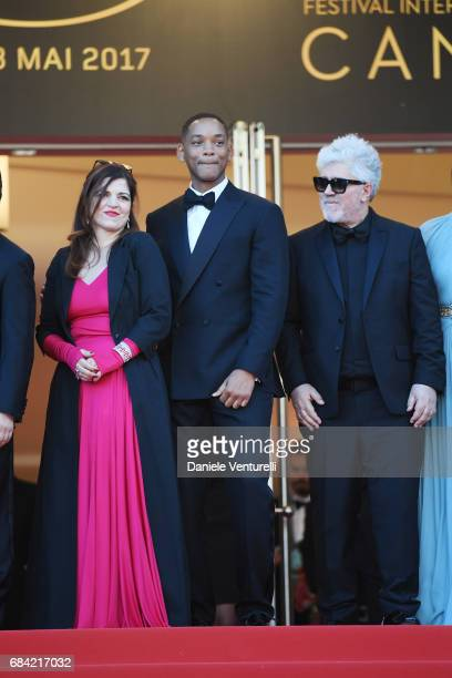 Agnes Jaoui and Will Smith President of the jury Pedro Almodovar attend the 'Ismael's Ghosts ' screening and Opening Gala during the 70th annual...