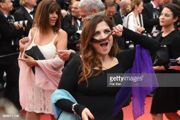 Agnes Jaoui attends 'Amant Double ' Red Carpet Arrivals during the 70th annual Cannes Film Festival at Palais des Festivals on May 26 2017 in Cannes...
