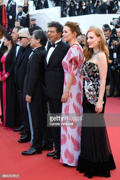 Agnes Jaoui Paolo Sorrentino President of the jury Pedro Almodovar and jury members Fan Bingbing Park Chanwook Gabriel Yared Maren Ade and Jessica...