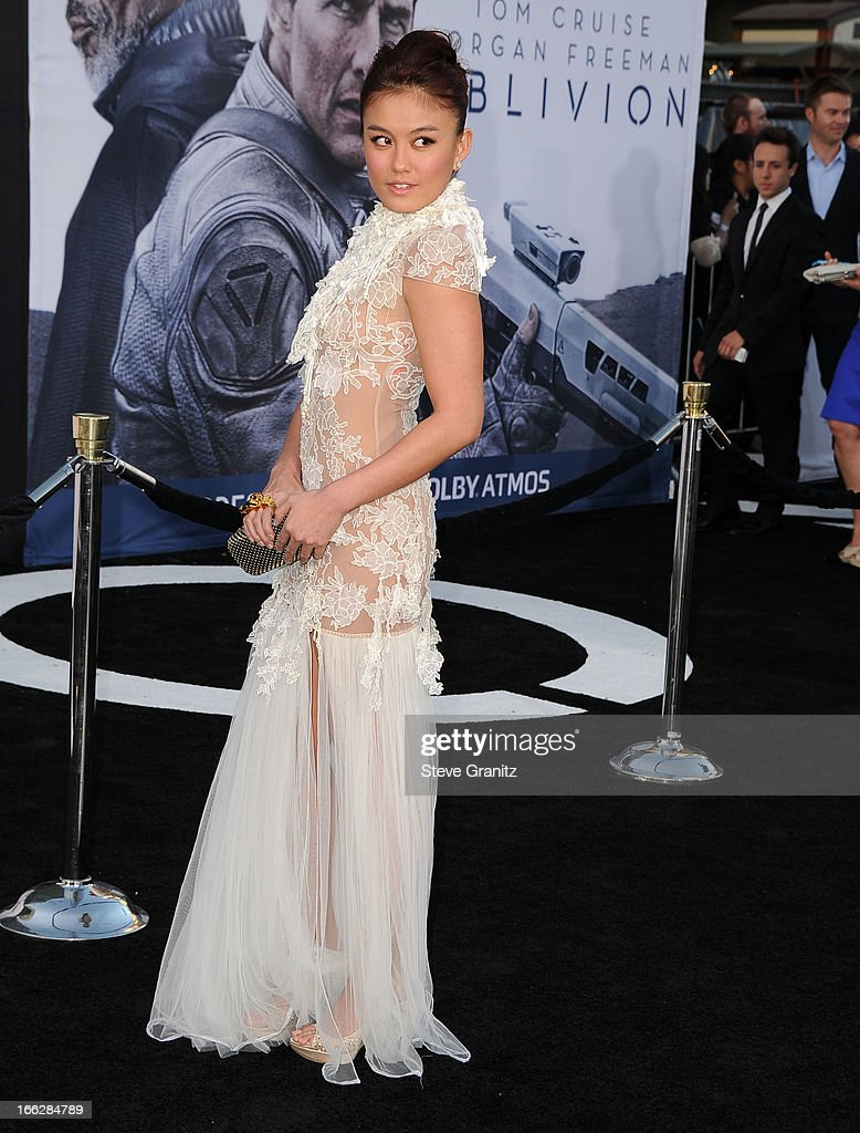 Agnes Monica arrives at the 'Oblivion' Los Angeles Premiere at Dolby Theatre on April 10 2013 in Hollywood California