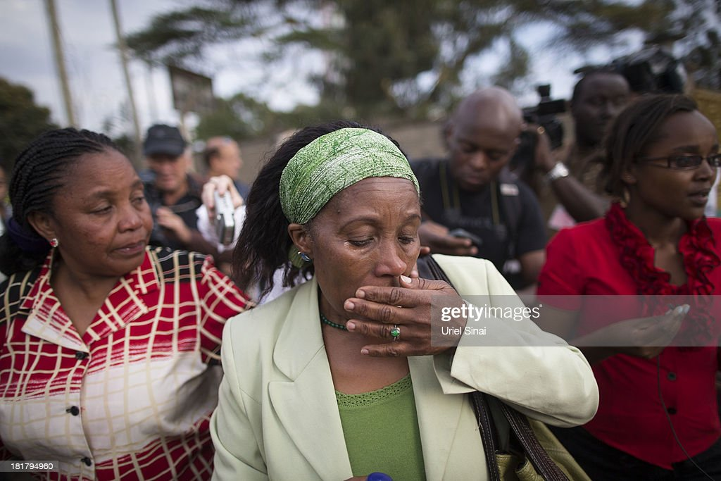 Agnes Mutua, identifyed her nephew Christopher Kennedy Chewa who was killed during the Westgate Mall attack, mourns after being informed that the mortuary refuses to release his body on September 25, 2013 in Nairobi, Kenya. The country is observing three days of national mourning as security forces begin the task of clearing and securing the Westgate shopping mall following a four-day siege by militants.
