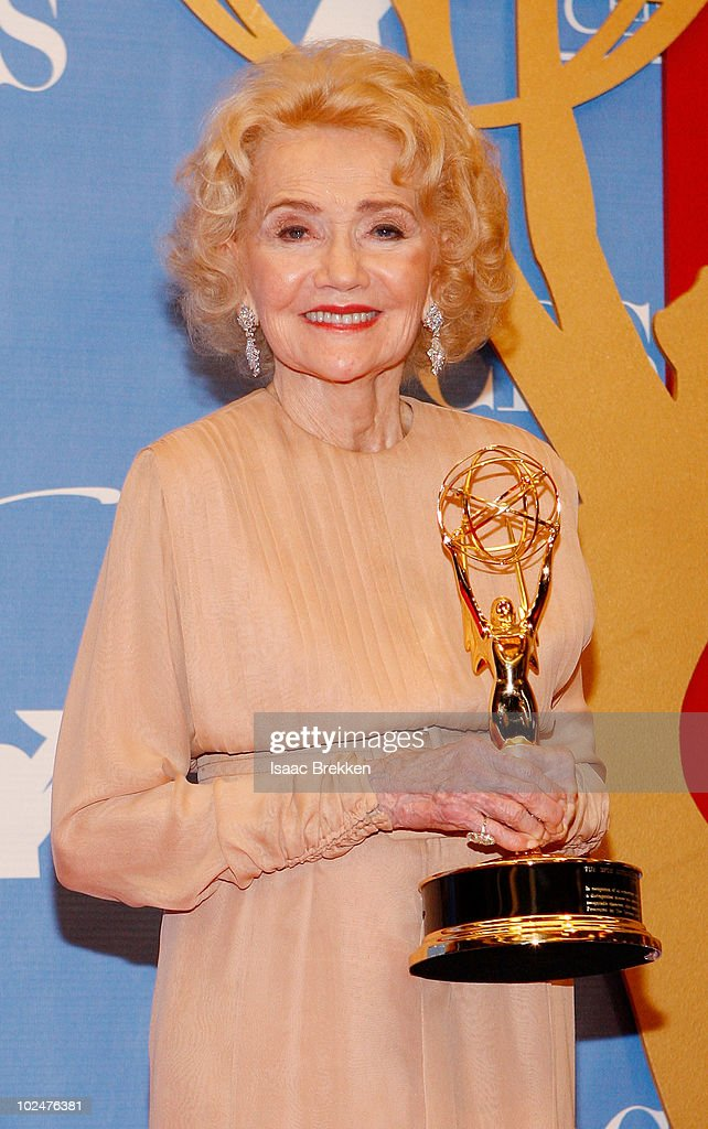 Agnes Nixon poses with the Lifetime Achievement Award in the trophy room at the 37th Annual Daytime Entertainment Emmy Awards held at the Las Vegas Hilton on June 27, 2010 in Las Vegas, Nevada.