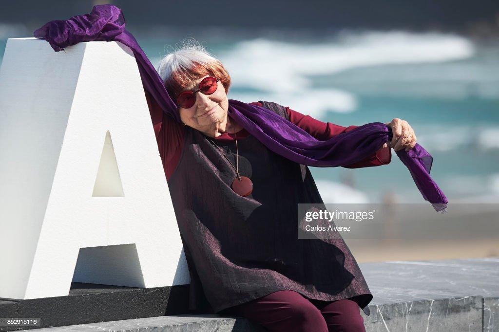 Agnes Varda - Donostia Award Photocall - 65th San Sebastian Film Festival
