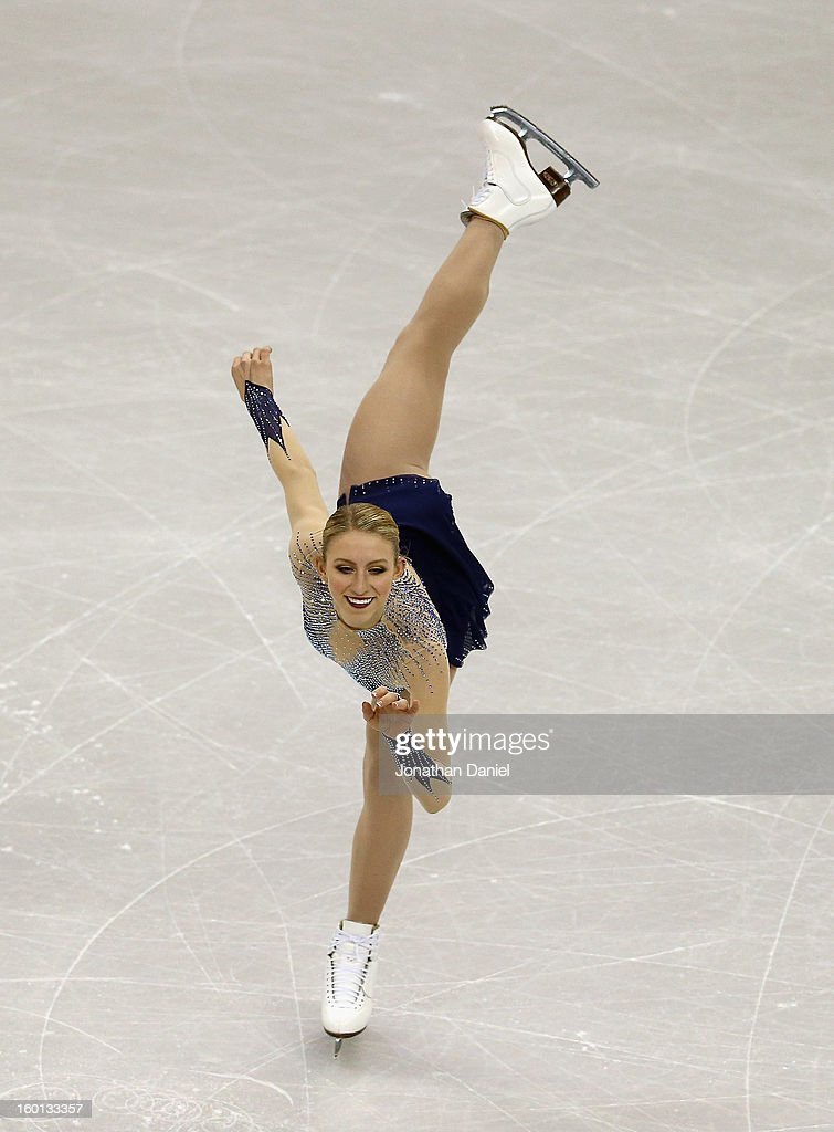Agnes Zawadzki competes in the Ladies Free Skate during the 2013 Prudential U.S. Figure Skating Championships at CenturyLink Center on January 26, 2013 in Omaha, Nebraska.