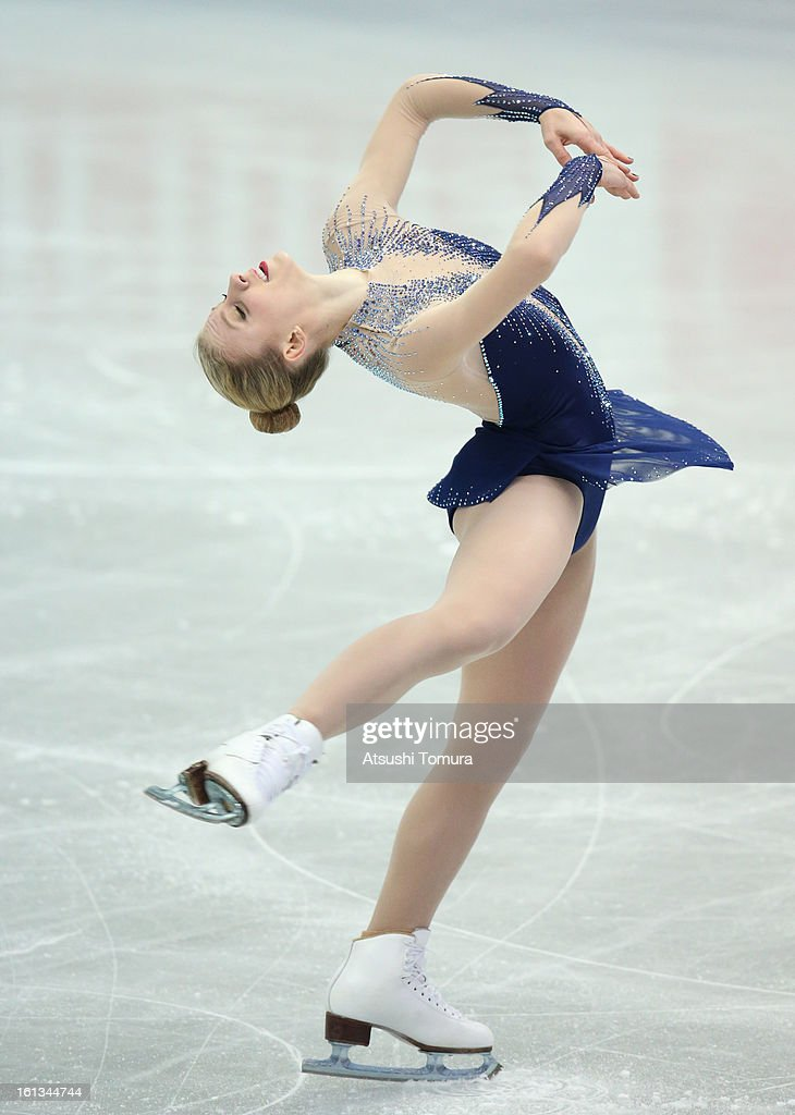Agnes Zawadzki of USA competes in the Women's Free Skating during day three of the ISU Four Continents Figure Skating Championships at Osaka Municipal Central Gymnasium on February 10, 2013 in Osaka, Japan.