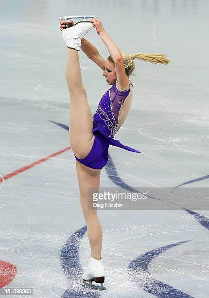 Agnes Zawadzki of USA skates in the Ladies Short Program during ISU Rostelecom Cup of Figure Skating 2013 on November 22 2013 in Moscow Russia Photo...