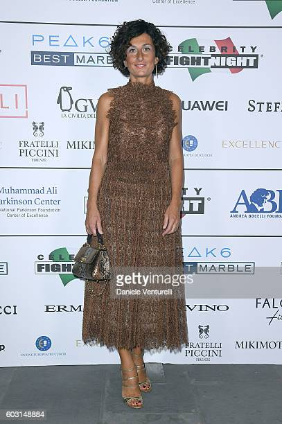 Agnese Renzi attends the Celebrity Fight Night gala at Palazzo Vecchio as part of Celebrity Fight Night Italy benefiting The Andrea Bocelli...