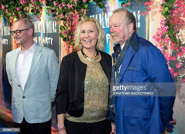 Agnetha Faltskog member of Swedish disco group ABBA attends the opening of 'Mamma Mia The party' a new restaurant in Stockholm where people can eat...