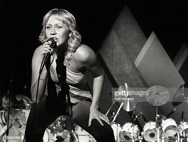 Agnetha Faltskog of Abba performs on stage at Ahoy Rotterdam Netherlands 24th October 1979
