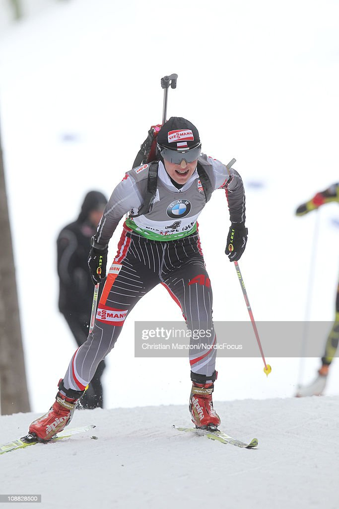 Agnieszka Cyl of Poland competes in the women's sprint during the E.ON IBU Biathlon World Cup on February 4, 2011 in Presque Isle, United States.